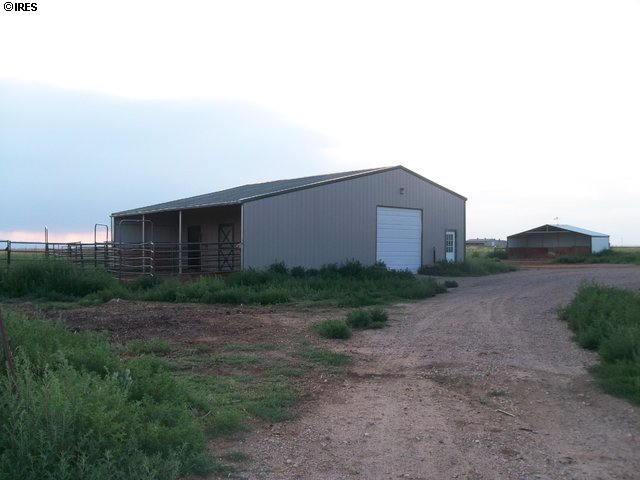 closer view of barn